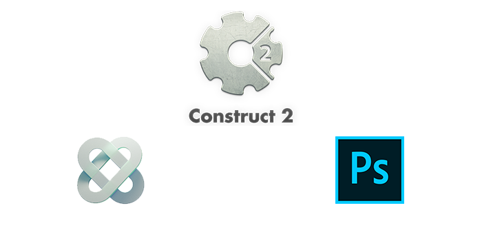 Photoshop, Construct 2 and CocoonJS Logos