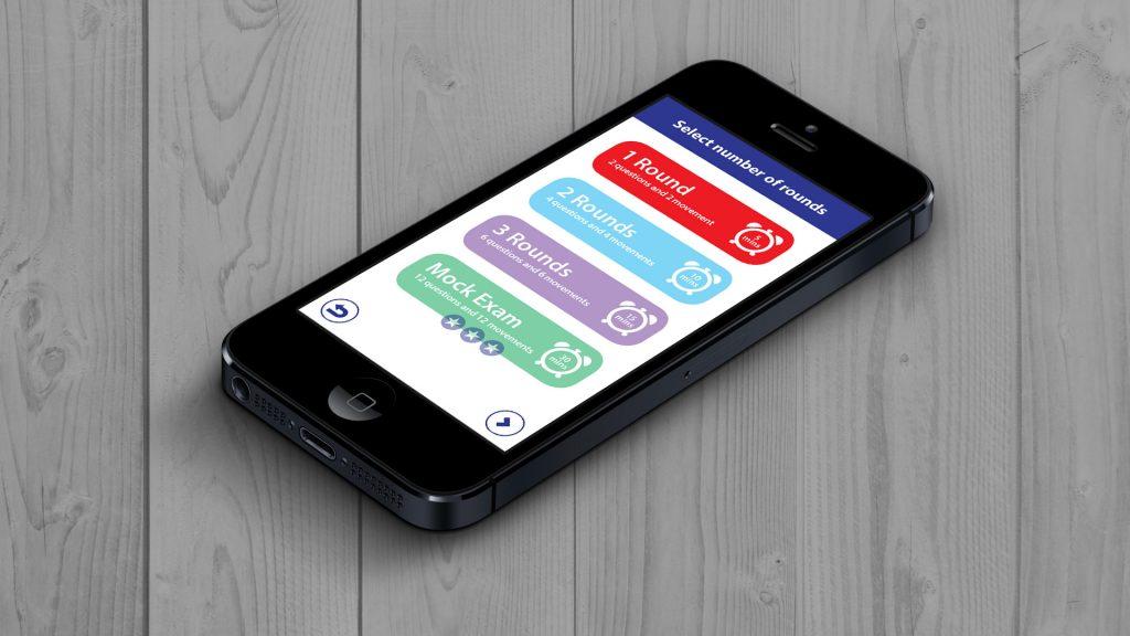 EduMove Maths App Running On iPhone 5