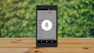 Service App Voice Recording Screen